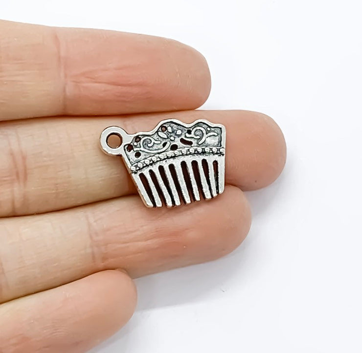 1 Tiny Hair Comb Charm