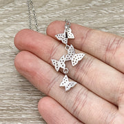 Dainty Butterfly Necklace, New Beginning Necklace, Time for Change, Tiny Butterfly, Silver Cubic Zirconia Jewelry, Birthday, Simple Reminder