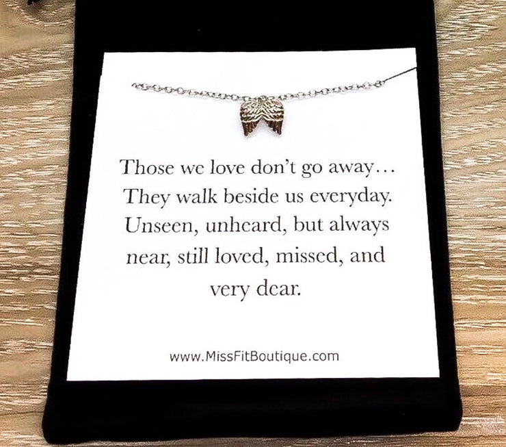 Tiny Angel Wings Necklace, Infant Loss, Stillborn, Grief Jewelry, Loss of a Parent, Miscarriage Necklace, Loss of a Child, Remembrance Gift,