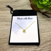 Dear Best Friend, Personalized Card, Tiny Star Necklace Rose Gold, Friendship Quote, Long Distance Friend Gift, Simple Reminder Gifts