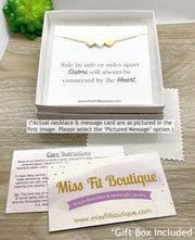 Tiny Gold Mountain Necklace with Quote Card, Outdoorsy Jewelry, Dainty Jewelry, Travel Gift, Inspirational Gift, Thinking of You Gift