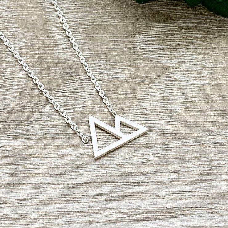 Mountain Peak Necklace, Stainless Steel, Inspirational Gift, Thoughtful Gift, Sentimental Jewelry, Travel Jewelry, Minimalist Necklace