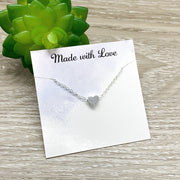 Gift for Sister Gift, Tiny Heart Pendant Necklace, Amazing Sister Card, Sisters Jewelry, Sisterhood, Unbiological Sister Jewelry