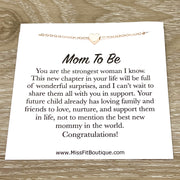 Mom to Be Quote, Congratulations Card, Tiny Heart Necklace, New Baby Gift, New Mom Jewelry, New Mother Gift, Encouragement Jewelry