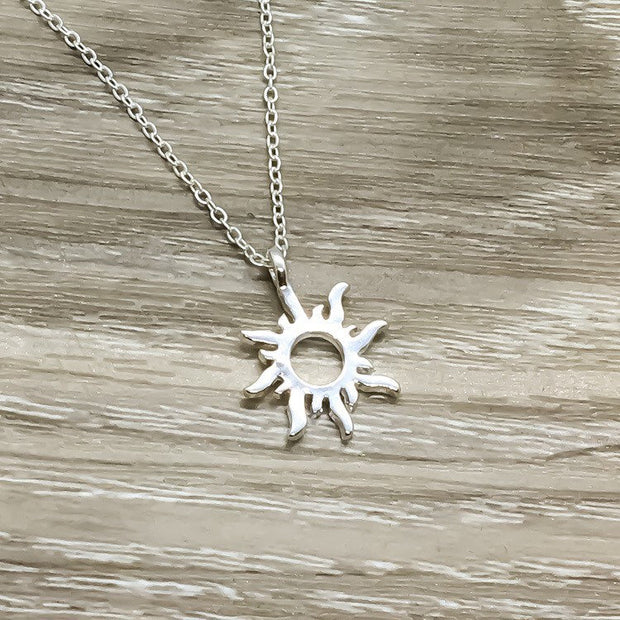 You Are My Sunshine Gift, Silver Sun Pendant, Dainty Necklace, Gifts for Her, Birthday Gift, Gift for Best Friend, Simple Reminders Jewelry