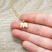Lucky Elephant Necklace with Card, Lucky Charm Pendant, Good Fortune Gift, Spirit Animal Gift, Spiritual Jewelry, Gift for Friend, Birthday