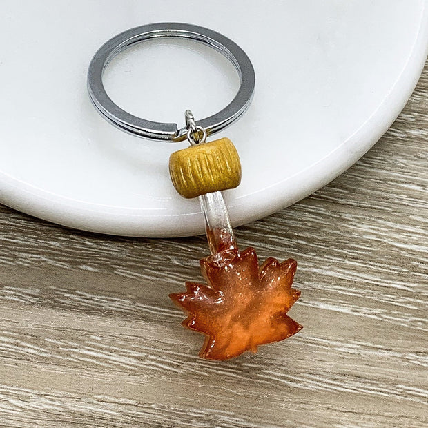 You're The Maple Syrup to My Pancakes, Tiny Maple Syrup Keychain, Realistic Food Charm, Friendship Gifts, Gift for Best Friend, Canada Gift