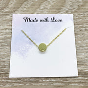 Thank You Gift, Circle Necklace, Necklace with Card, Teacher Gift, Caregiver Gift, Volunteer Gift, Hostess Gift, Intern Gift, Dog Sitter