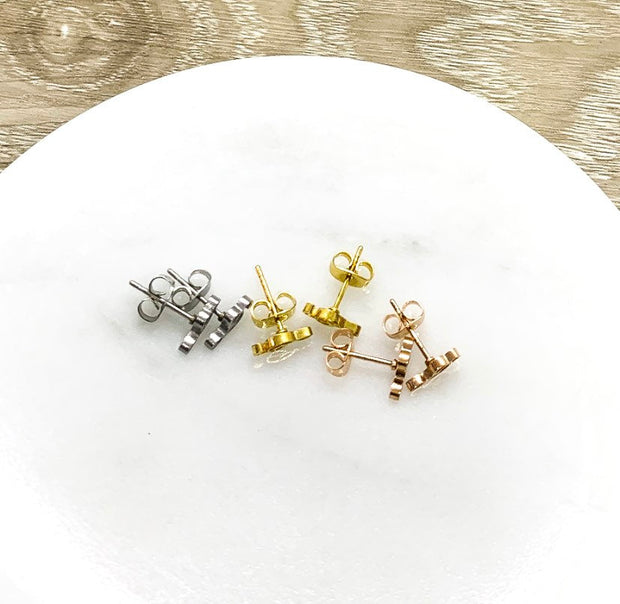 Music Note Stud Earrings, Tiny Treble Clefs Earrings, Musician Gift, Music Teacher Gift, Musical Jewelry, Music Themed Earrings, Dainty Stud