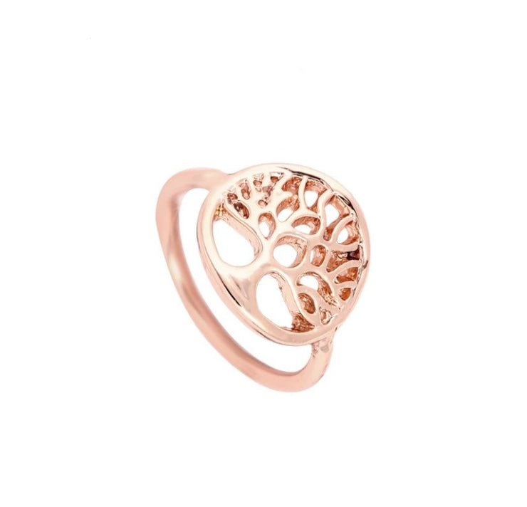 Tree Ring, Dainty Rose Gold Ring, Family Jewelry, Stacking Ring, Promise Ring, Statement Ring, Delicate Ring, Life Ring