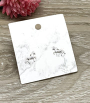 Tiny Horse Stud Earrings, Pony Earrings, Sterling Silver Jewelry, Animal Lover Jewelry, Cute Horse Earrings, Gift for Little Girl