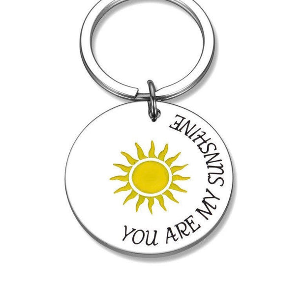 You Are My Sunshine Keychain, Stainless Steel