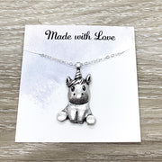 Baby Unicorn Necklace, Cute Jewelry, Whimsical Necklace, Unicorn Jewelry, Unicorn Lover, Unicorn Pendant, Little Girl Gift, Birthday Gift