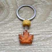 Tiny Maple Syrup Keychain, Realistic Food Charm, Sending Love From Canada, Cute Friendship Gift, Gift for Best Friend, Canada Keychain