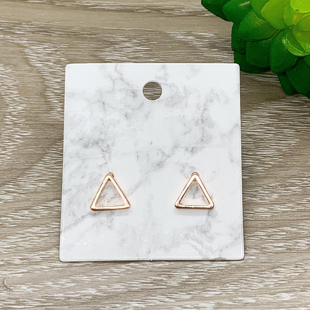 Tiny Triangle Stud Earrings, Dainty Geometric Jewelry, Minimalist Earrings, Triangle Jewelry, Everyday Earrings, Thinking of You, Birthday