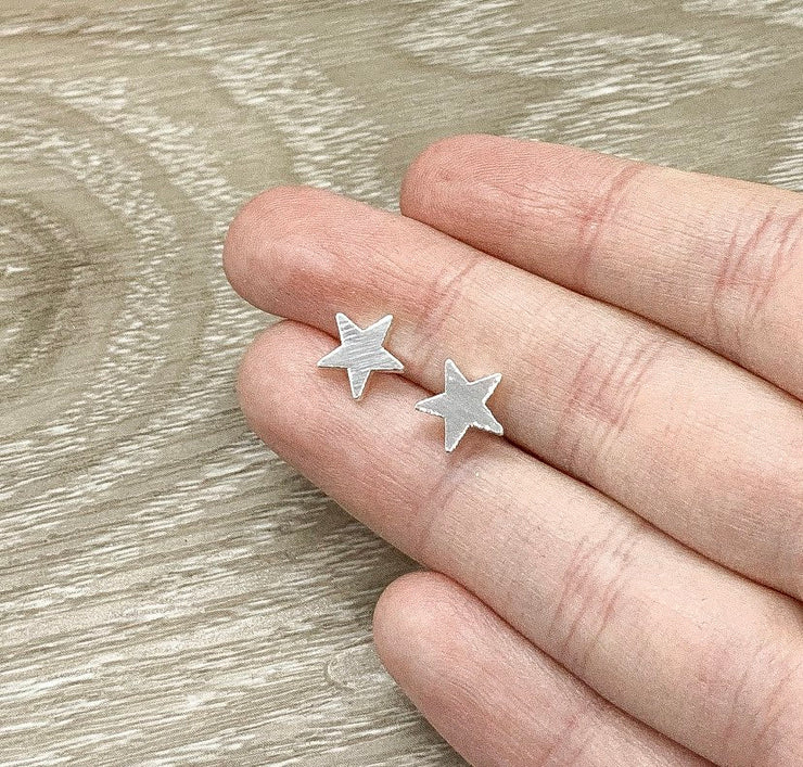Tiny Star Stud Earrings, Celestial Earrings, Astronomy Jewelry, Dainty Stud Earrings, Gift for Little Girl, Delicate Studs
