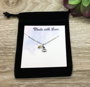 Rainbow of Hope Card, Tiny Rainbow Necklace, Friend Gift, Feeling Down Gift, Motivational Gift, Infertility Support Gift, Cheer Up Gift