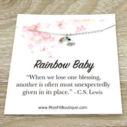 Rainbow Baby Gift, C.S. Lewis Quote, Tiny Rainbow Necklace, New Baby Gift, New Mom Jewelry, Miscarriage, Infertility Support Gift