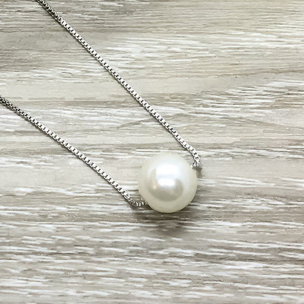 Amazing Nanny Gift, Floating Pearl Necklace, Thank You Gift for Nanny, Child Care, Babysitter Gift, Nanny Appreciation, Daycare Provider