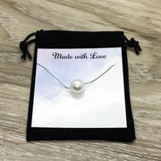 Chance Made Us Colleagues, Floating Pearl Necklace, Gift for Coworker, Friendship Necklace, Workmates Gift, Birthday Gift for Friend