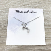 Silver Unicorn Necklace Gift Box, Unicorn Wisdom Card, Unicorn Jewelry, Unicorn Lover Gift, Unicorn Pendant, Teen Girl Gift, Birthday Gift