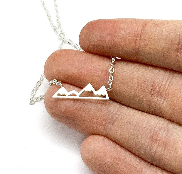 Tiny Mountain Necklace, Gift for Daughter, Minimalist Pendant, Canadian Winter Jewelry, Wanderlust Jewelry, Stocking Filler for Women