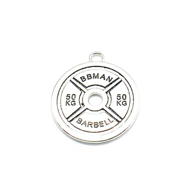 Weightlifting Charm, 50kg Weight Plate Charms, 50 kilograms, Weight Charms, Fitness Charms, Jewelry Findings, Gym Charm, Stocking Filler
