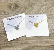 Matching Puzzle Necklace Set, Best Friends Necklaces for 2, Jewelry Set, Friendship Card, Long Distance Friends Gift, Holiday Gift Ideas