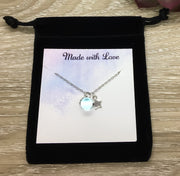 Shoot For The Moon Quote, Tiny Star Necklace, Inspirational Gift, Best Friend Gift, Friendship Necklace, Minimal Jewelry, Uplifting Gift