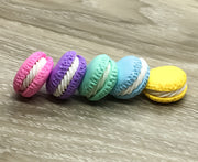 Macaroon Kawaii Foodie Charm, Blue, Green, Pink, Purple, Yellow