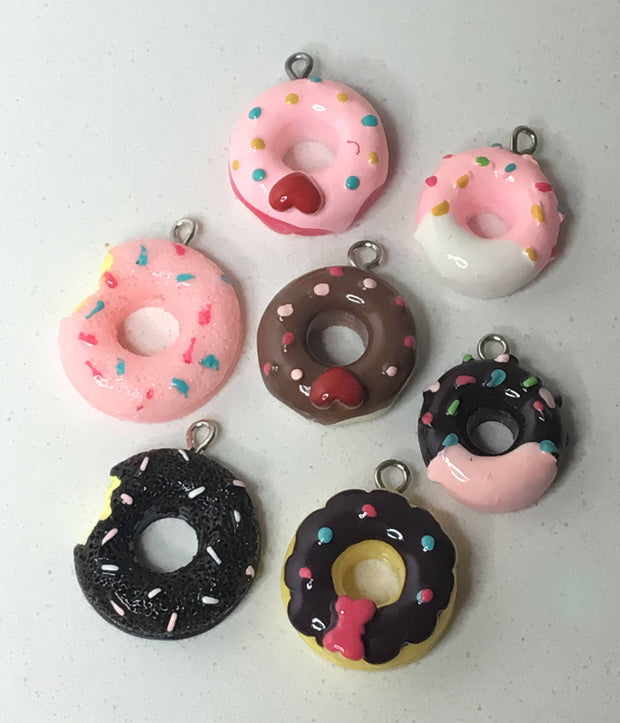 Miniature Donut, Kawaii Earrings, Miniature Food, Donut Charms, Donut Earrings, Donut Jewelry, Gift Ideas, Food Lover, Donut Lover Gifts,