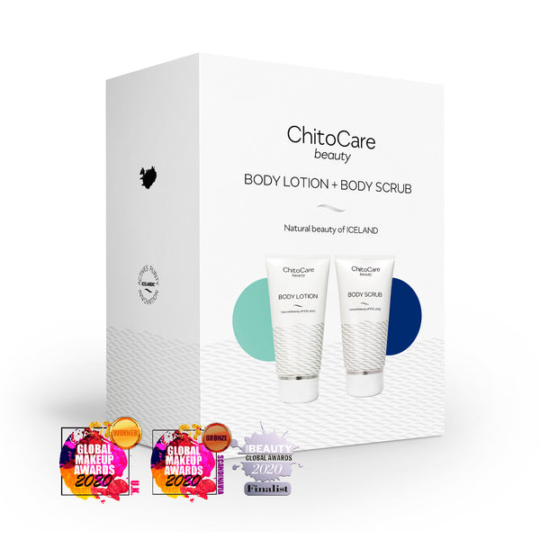ChitoCare Beauty Body Lotion + Body Scrub gjafaaskja