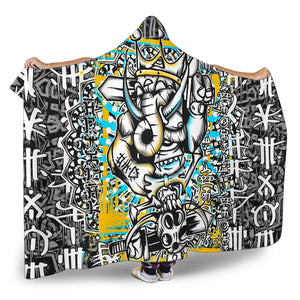 Elephants Game Hoodie Blanket