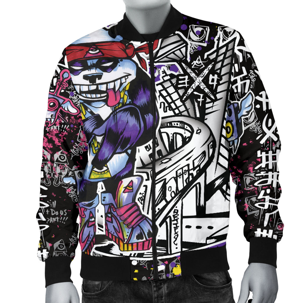 Panda Town Men's Bomber Jacket