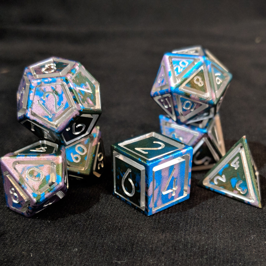 Anodisation seen on Eldritch Caged Dice