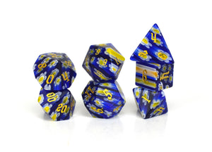 Bluebonnet Candy Glass Dice (HP) Set of 7