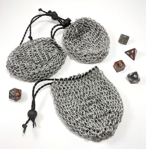 Chainmail Dice Bags by Firebear Armoury