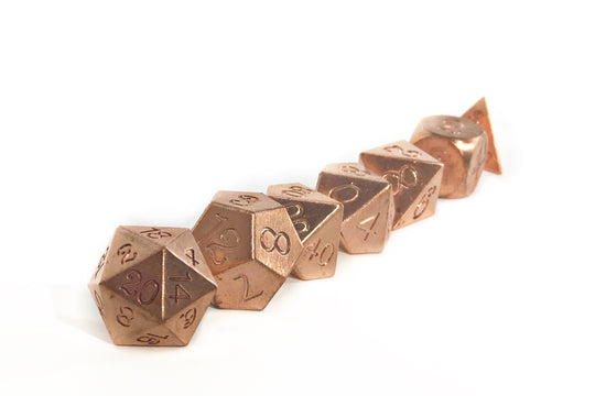 Copper Heavy Metal Dice Set