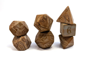 Raised Egyptian Marble Semi Precious Stone Dice Set