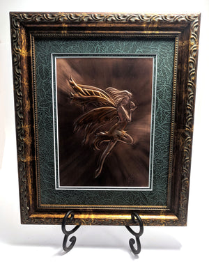 "Faerie Copper Art (10"" x 12"") by Dragon Fire Art"