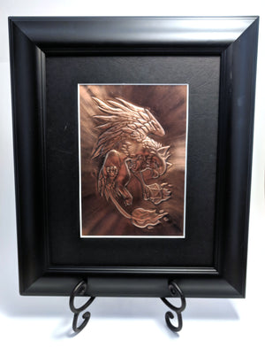 "Gryphon Copper Art (11"" x 13"") by Dragon Fire Art"