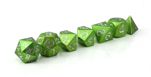 Lime Green Aluminium Set of 7