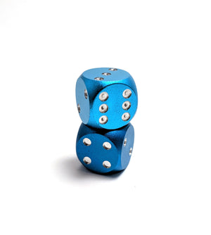 Light Blue Aluminium Mini D6