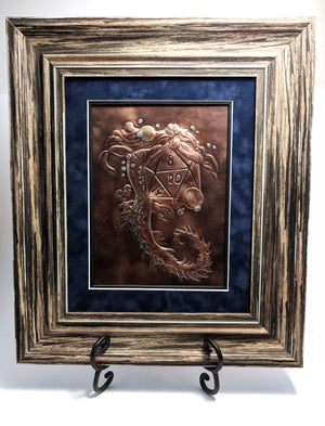 "Mermaid D20 Copper Art (12"" x 14"") by Dragon Fire Art"