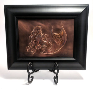 "Mermaid Copper Art (8"" x 10"") by Dragon Fire Art"