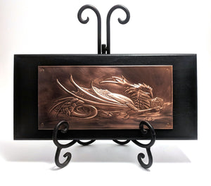 "Phoenix Dragon Copper Art (5"" x 10.5"") by Dragon Fire Art"