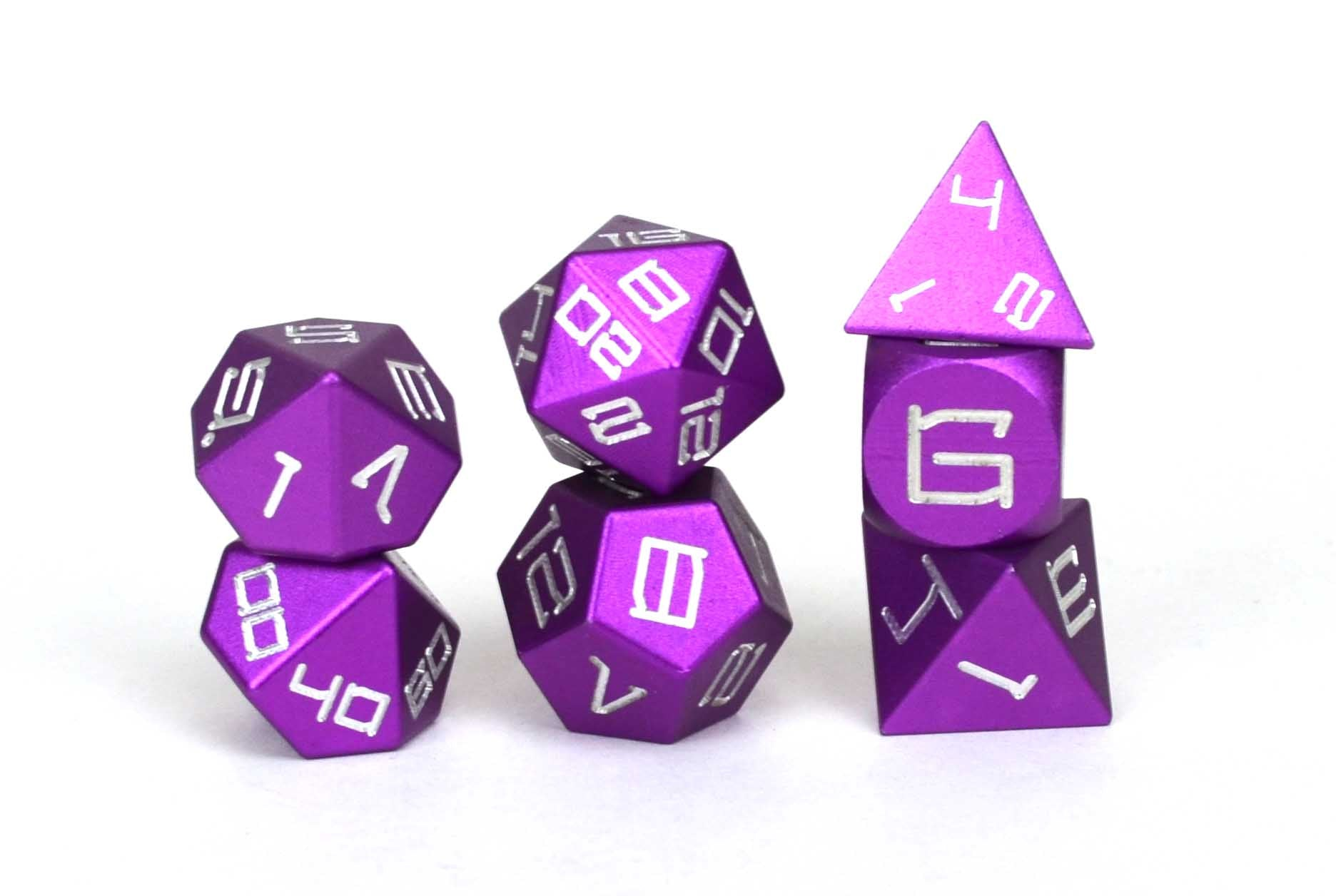 Purple Aluminium Set of 7