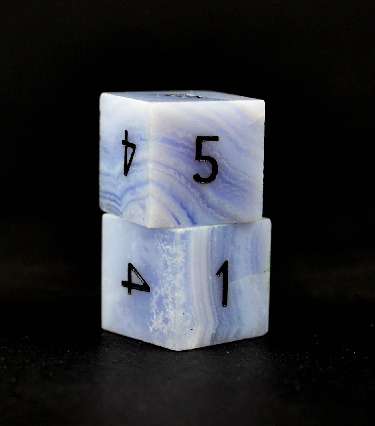 Blue Lace Agate D6 Single