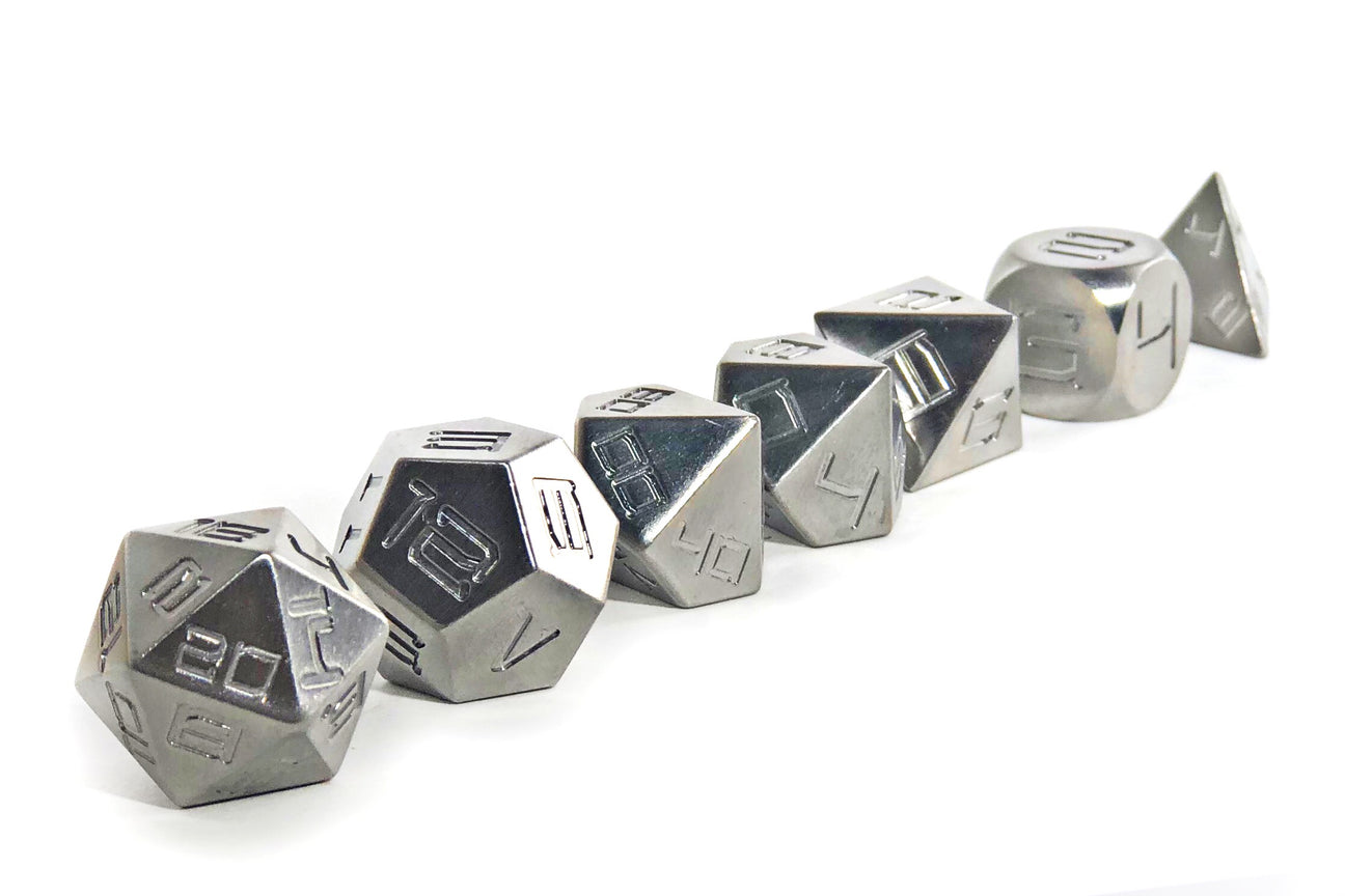 Stainless Steel Heavy Metal Dice Set