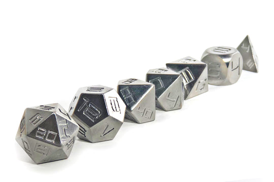 Titanium Heavy Metal Dice Set